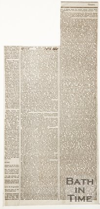 Newspaper article concerning the inauguration of the new Bath Corn Markets, 1855