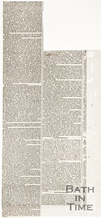 Newspaper article concerning the inauguration of the new Bath Corn Markets, verso, 1856