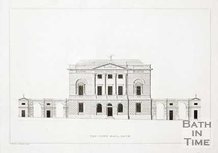 The Town-Hall, Guildhall, High Street, Bath, 1791