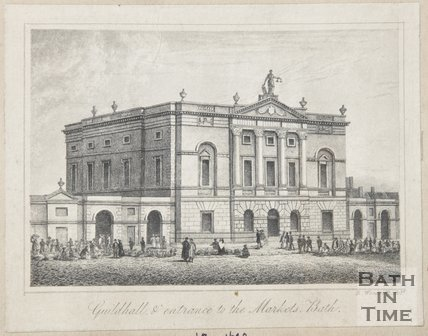 Guildhall & entrance to the Markets 1839