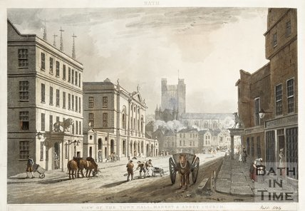 View of the Town Hall, Market and Abbey Church 1804