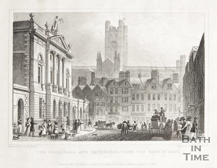 The Guildhall and Cathedral, from the High Street 1829