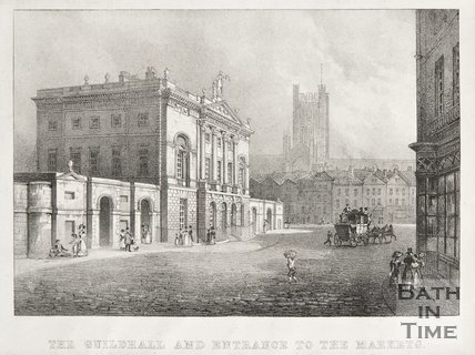 The Guildhall and Entrance to the Markets 1828