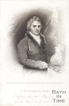 Portrait of P. Turnerelli Esq. The sculptor to Their Late Majesties and the Royal Family, 1821