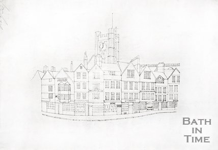 A sketch of Market Place featuring Wade's Passage