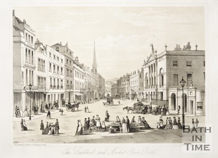 The Guildhall and Market Place c.1850