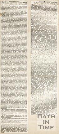 Newspaper article regarding the Bath Athenaeum Soiree 25th Anniversary, 1850