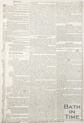 Newspaper article containing a testimonial to Mr Roebuck Esq. late M.P. for Bath, 1867