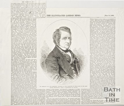 Newspaper article concerning Mr. Roebuck M.P., 1855