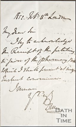 Handwritten note to W. Lawson from Lord Duncan