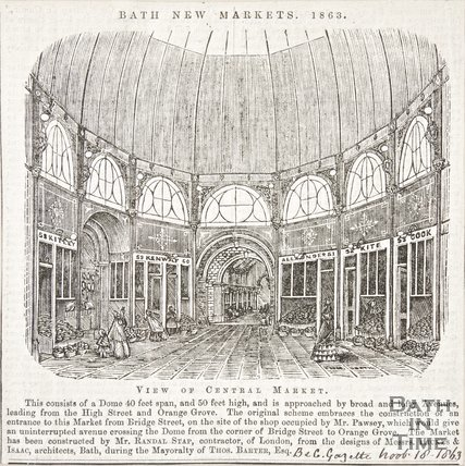 Newspaper article about Bath New Market, 1863