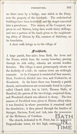 Page 265 from Rambles about Bath and its Neighbourhood, 1847