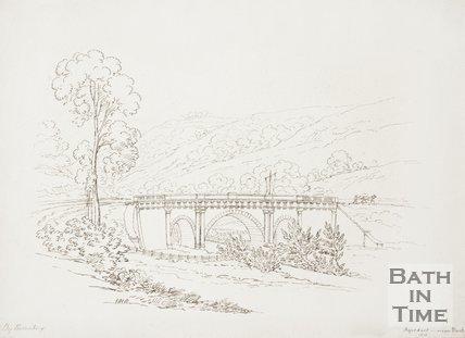 Ink sketch of the Dundas Aqueduct, 1818