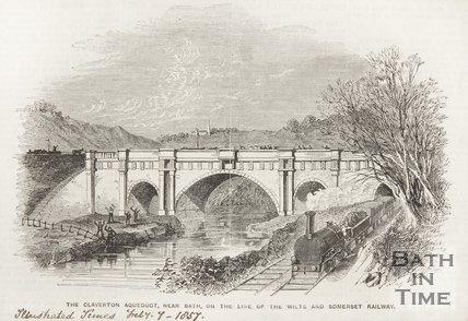 Dundas Aqueduct near Bath 1857