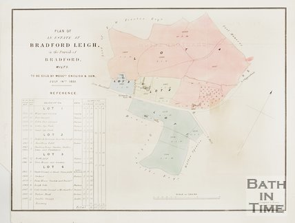 Plan of the estate at Bradford Leigh in the Parish of Bradford on Avon, 1851