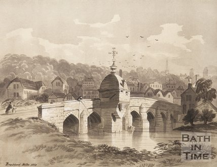 Town Bridge Bradford on Avon, 1850