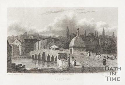 Bradford. The bridge at Bradford on Avon 1830