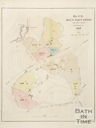 Plan of the Mill's Platt Estate in the Parish of Box, 1856