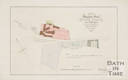 Plan of Kingsdown House Lunatic Asylum and Premises of the Parish of Box Wilts near Bath, 1858