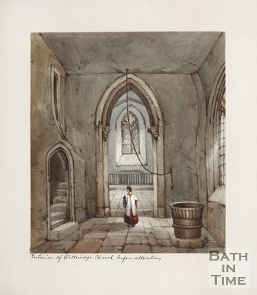 Interior of Ditteridge Church Before Alterations