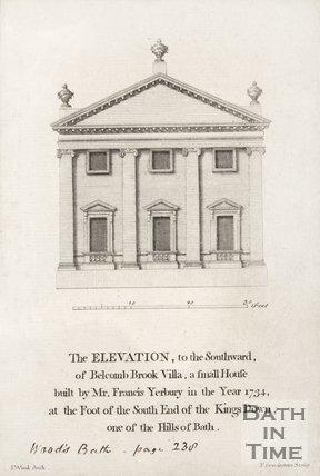The elevation of Belcombe Brooke Villa