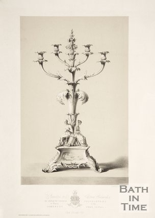 Ornamental candle stand, 1841