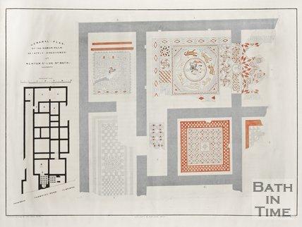General plan of Roman Villa found at Newton St. Loe