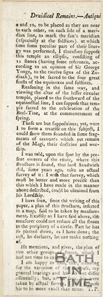 Extract discussing druid remains at Stanton Drew, 1784