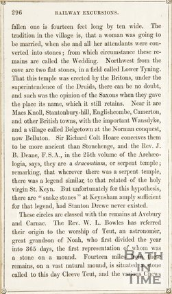 Page 296 from Rambles about Bath and its Neighbourhood, 1847