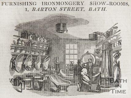 Furnishing Ironmongery Show Rooms, 1, Barton Street, 1835