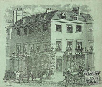 1, Milsom Street Corner of Quiet Street 1854
