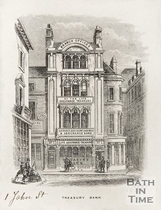 Treasure Bank 1, John Street at corner of Quiet Street, 1858