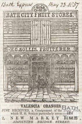 2, Newmarket Row, corner of Bridge Street, 1857