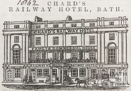 Chards Railway Hotel Bath, 1863