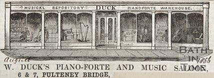 6 and 7 Pulteney Bridge, 1858