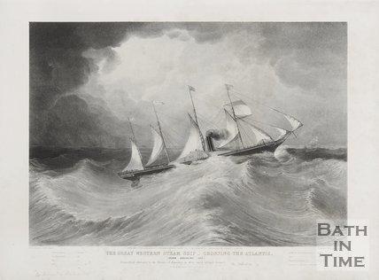 The Great Weston Steam Ship Crossing the Atlantic