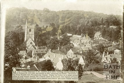 View of Castle Combe village, Wiltshire,