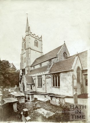 The church at Castle Combe, Wiltshire, c.1910