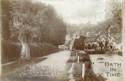 The picturesque village of Castle Combe, Wiltshire, c.1910