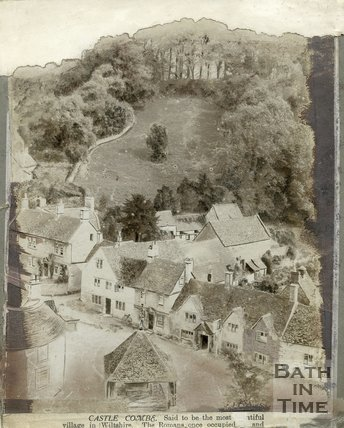 View of Castle Combe village, Wiltshire,
