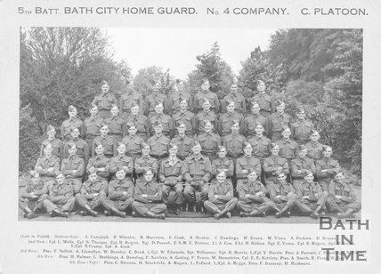5th Battalion Bath City Home Guard No. 4 Company C. Platoon, c.1940s