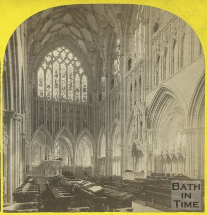 Interior of Wells Cathedral c.1865
