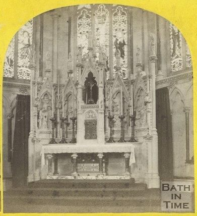 High alter at St. John the Evangelist Church, Bath c.1865