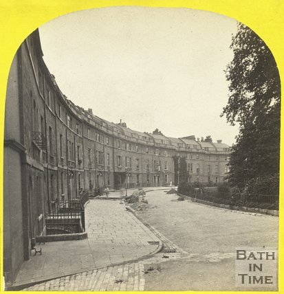 Widcombe Crescent, Bath c.1865