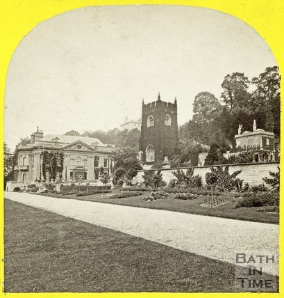 Widcombe Manor and church, Widcombe, Bath c.1865