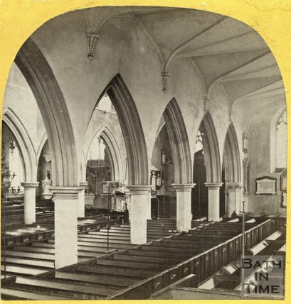 Interior of St. Mary the Virgin Church, Wotton Under Edge, Gloucestershire 1863