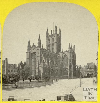 Bath Abbey viewed from Orange Grove, Bath, c.1865