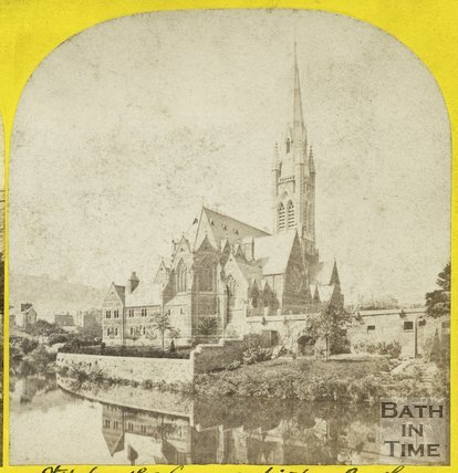 St. John the Evangelist and the River Avon, Bath c.1865