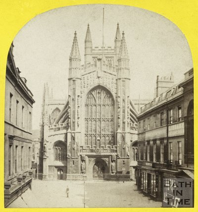 The west front of Bath Abbey from Abbey Church Yard, Bath c.1863