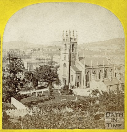 St. Mark's Church and burial ground, Widcombe, Bath c.1865